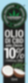 Olio di CBD 10%COCCO - fustella 8,5 copi