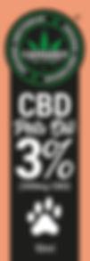 Olio di CBD 3% pets oil - fustella 8,5 c