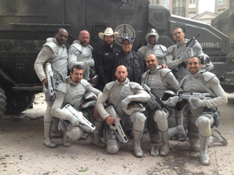 "On set ""hunger games"". Stunt Coord: Philippe Guegan"