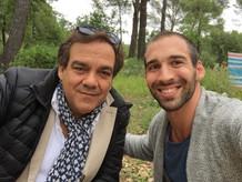 "on set ""Alibi.com"" with Didier Bourdon"