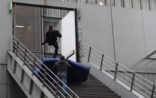 "Stunt rehearsal ""antigang"". Stunt coord: Manu Lanzi"