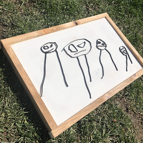 BLACK & WHITE Custom Children's Artwork
