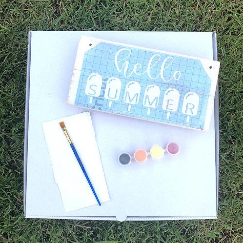 DIY Kit: Hello Summer Door Sign