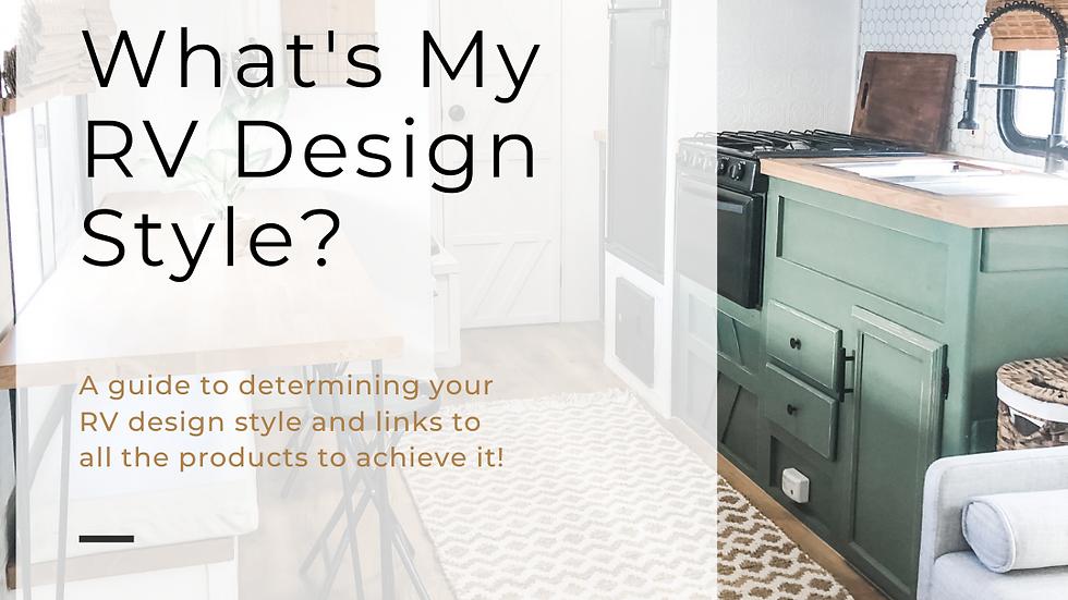 What's My RV Design Style E-Book