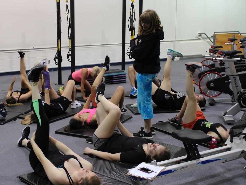Team training Midget A stretch