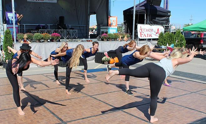 Yoga instructors at Ancaster Fair 2