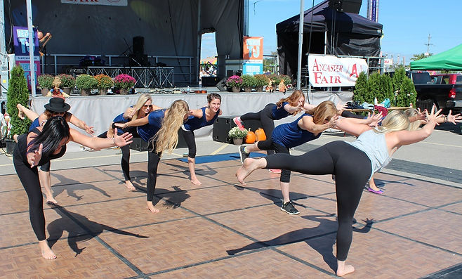 Yoga instructors at Ancaster Fair 2