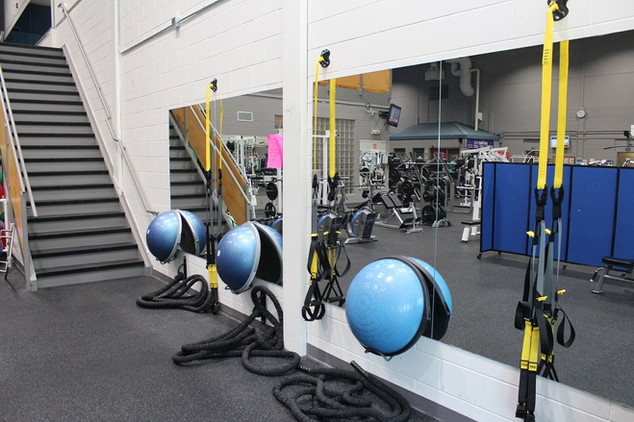 Small group fitness area