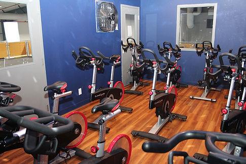 Spin bikes in Spirit Spin room