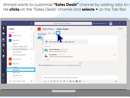 Adding Tabs to your Teams - Improving your Sales Team productivity with Microsoft Teams