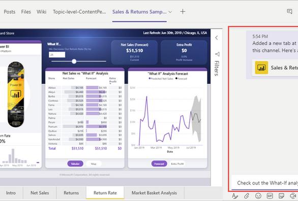 Power BI – data visualization in Microsoft Teams