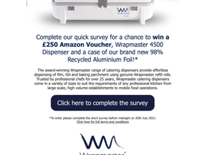 Please help our friends at Wrapmaster with a quick survey.