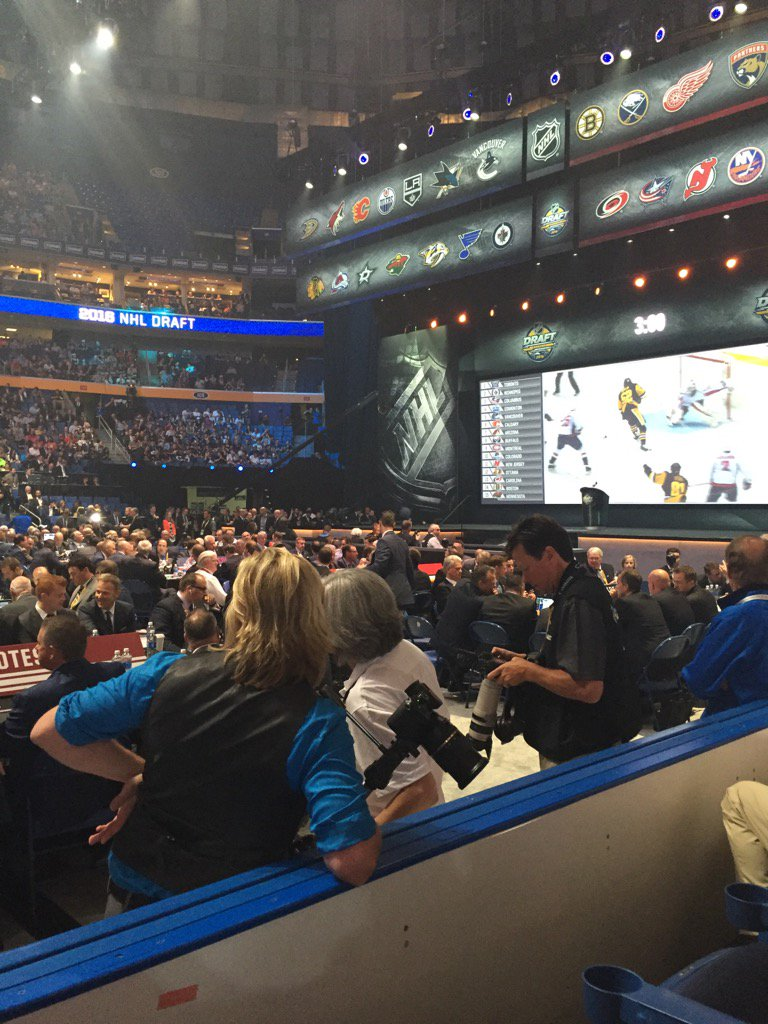 Filming at the 2016 NHL Draft