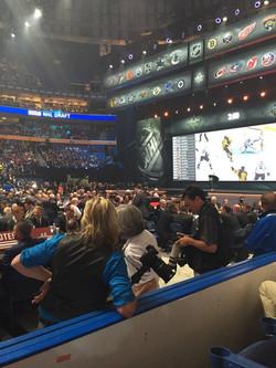 Filming at the 2016 NHL Draft