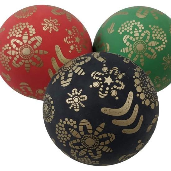 SPORTSPET Gold Bounce Dog Ball