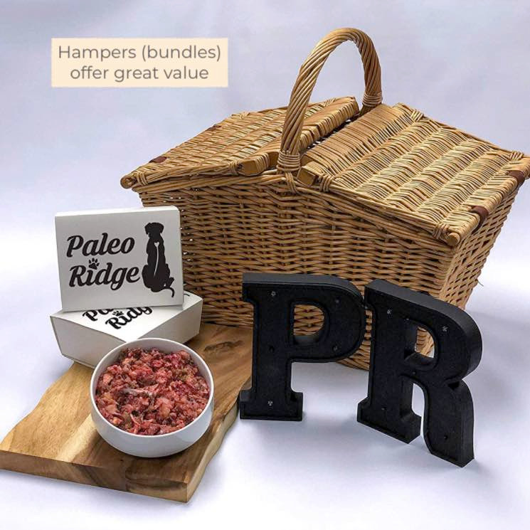 Paleo ridge raw dog food hampers