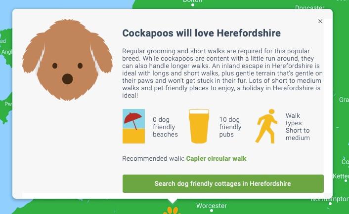 cottages.com dog friendly holidays