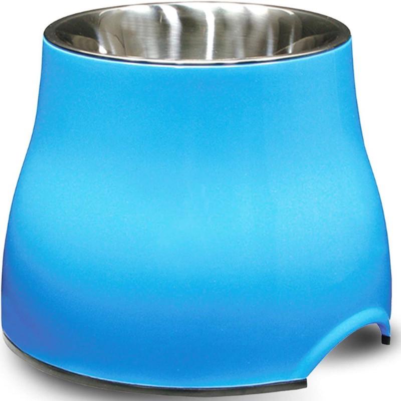 Dogit 2-in-1 blue raised dog bowl