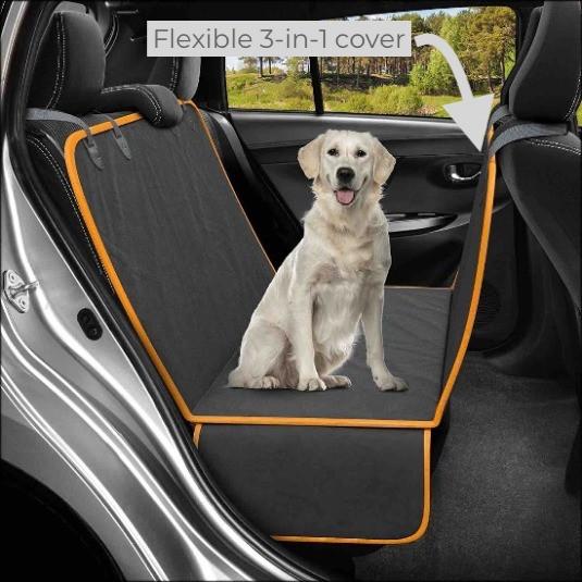Dog sitting on Active Pets Original 3-in-1 dog hammock