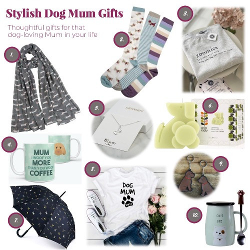 A selection of Dog Mum Gifts for Mother's Day 2021