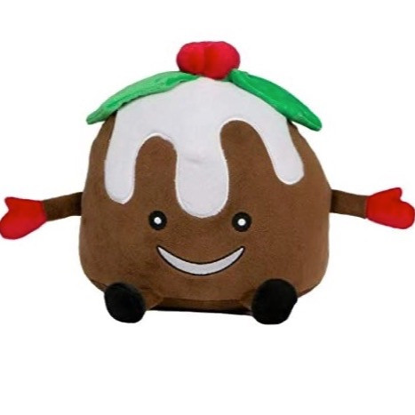 Christmas Pudding Dog Toy with squeaker
