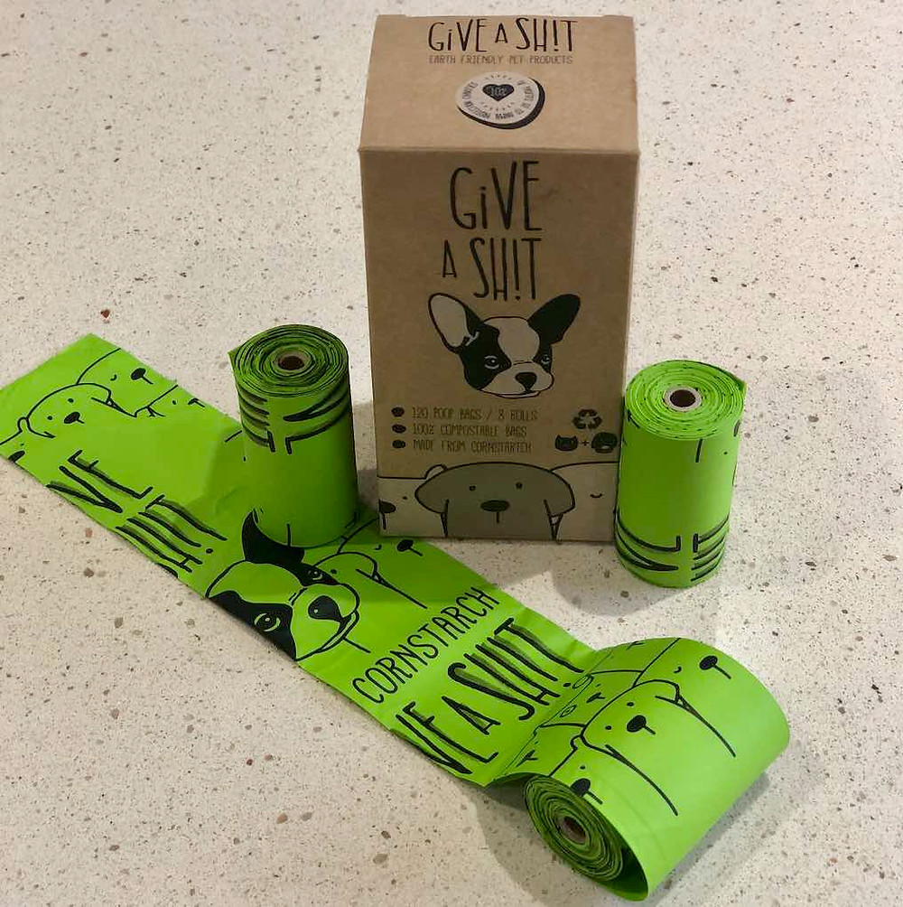 Give A Shit compostable and eco-friendly green Dog Poop Bags