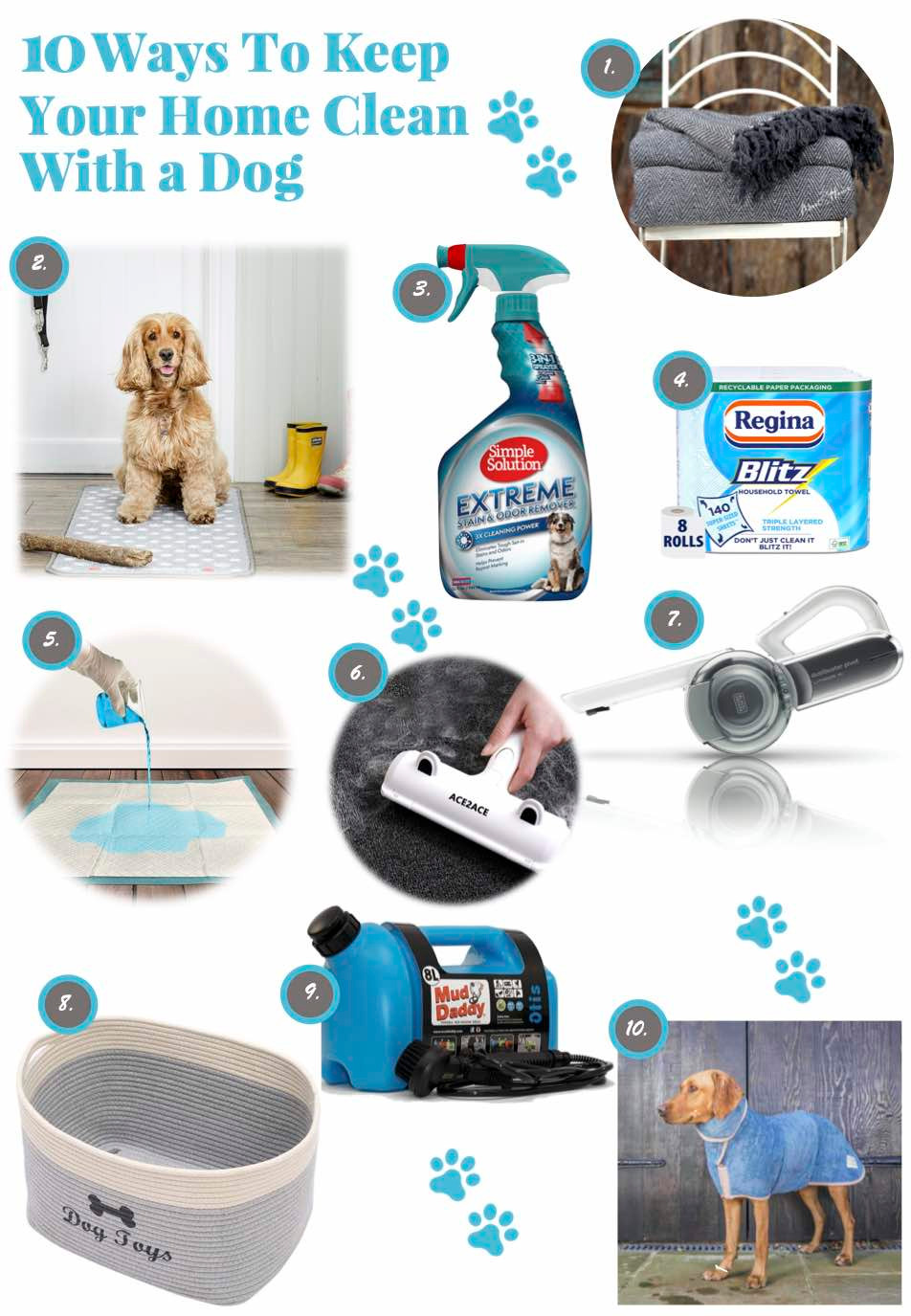 10 products to keep your home clean with a dog