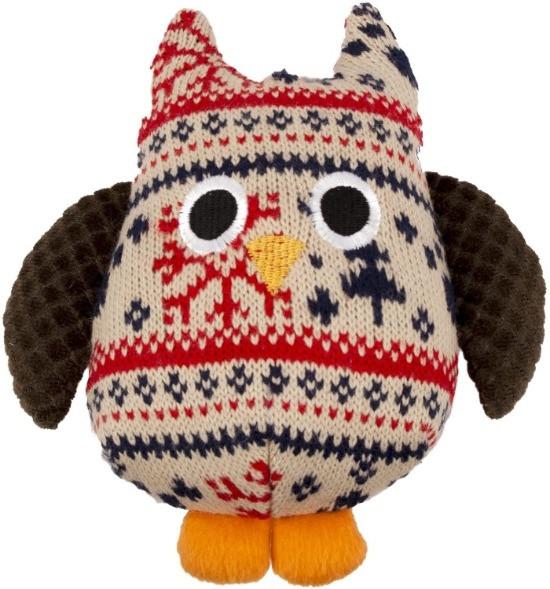 Christmas Owl Plush Dog Toy