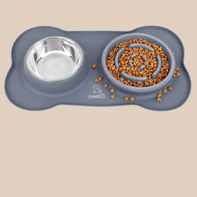 peculate 3 in 1 slow feeder food and water bowl for dogs