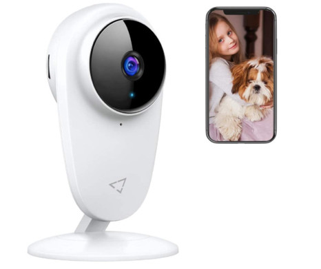 Victure Pet monitor showing a photo of a dog