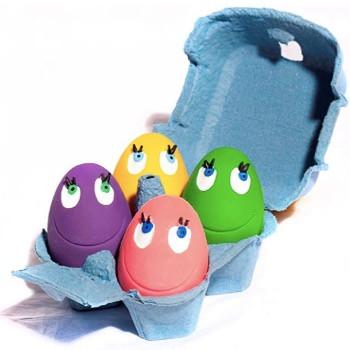 ovo egg dog toy set of 4