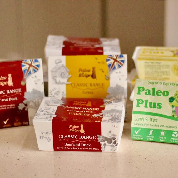 Paleo Ridge raw dog food packaging