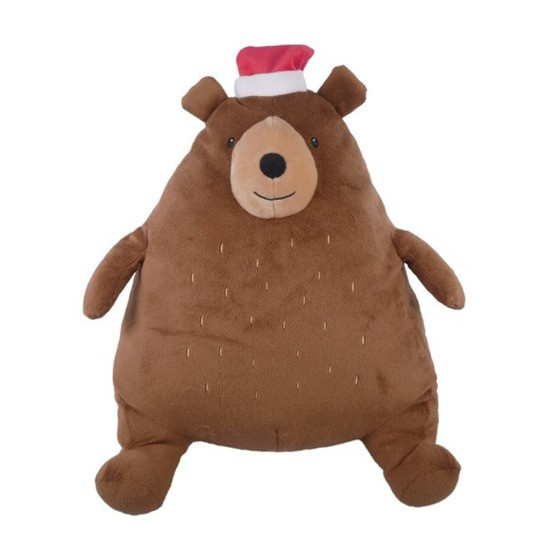 Festive Giggling Bear Dog Toy