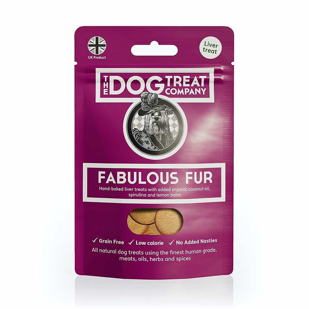 The Dog Treat Company Fabulous Fur dog treats.