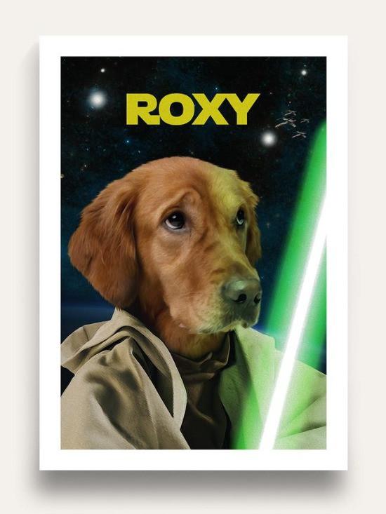 Custom Starwars dog portrait