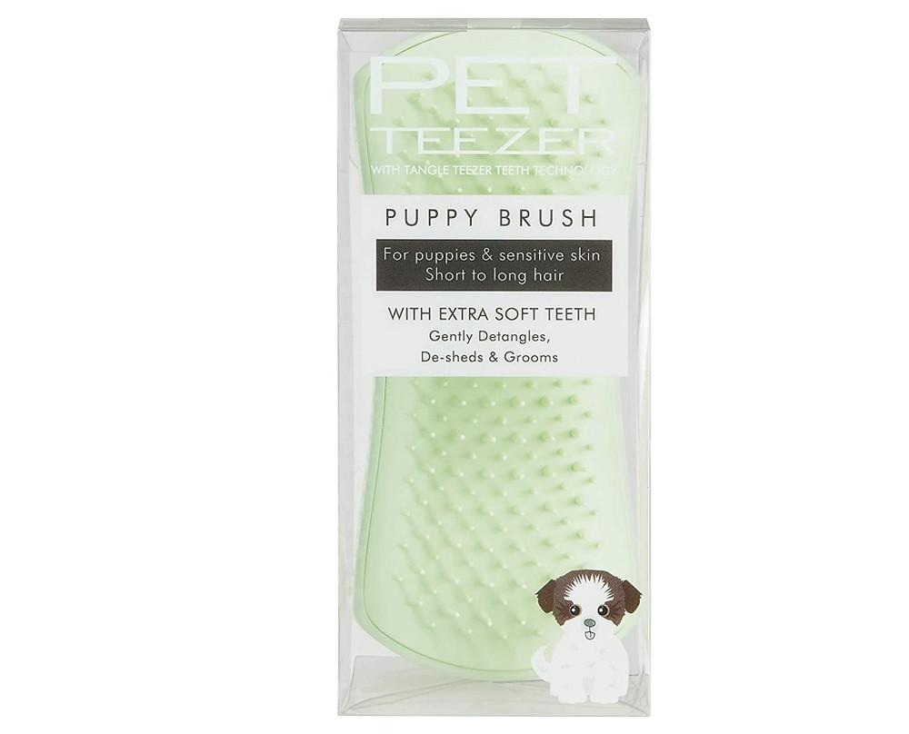 Pet Teezer puppy brush in green