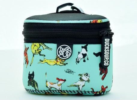 Dicky Dog Treat Bag in a blue dog pattern