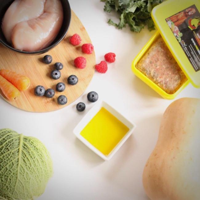 Ingredients for chicken recipe dog food