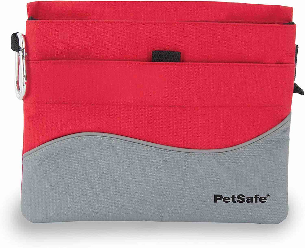 Petsafe small dog treat bag in red