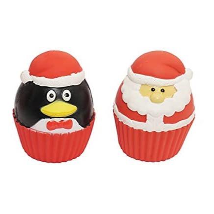 Latex Christmas Cupcake Dog Toys