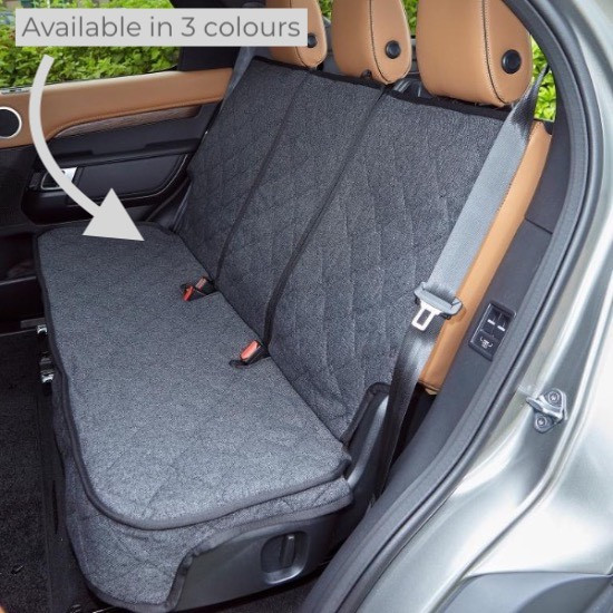 Over The Top Custom Car Seat Cover for dogs showing personalisation options