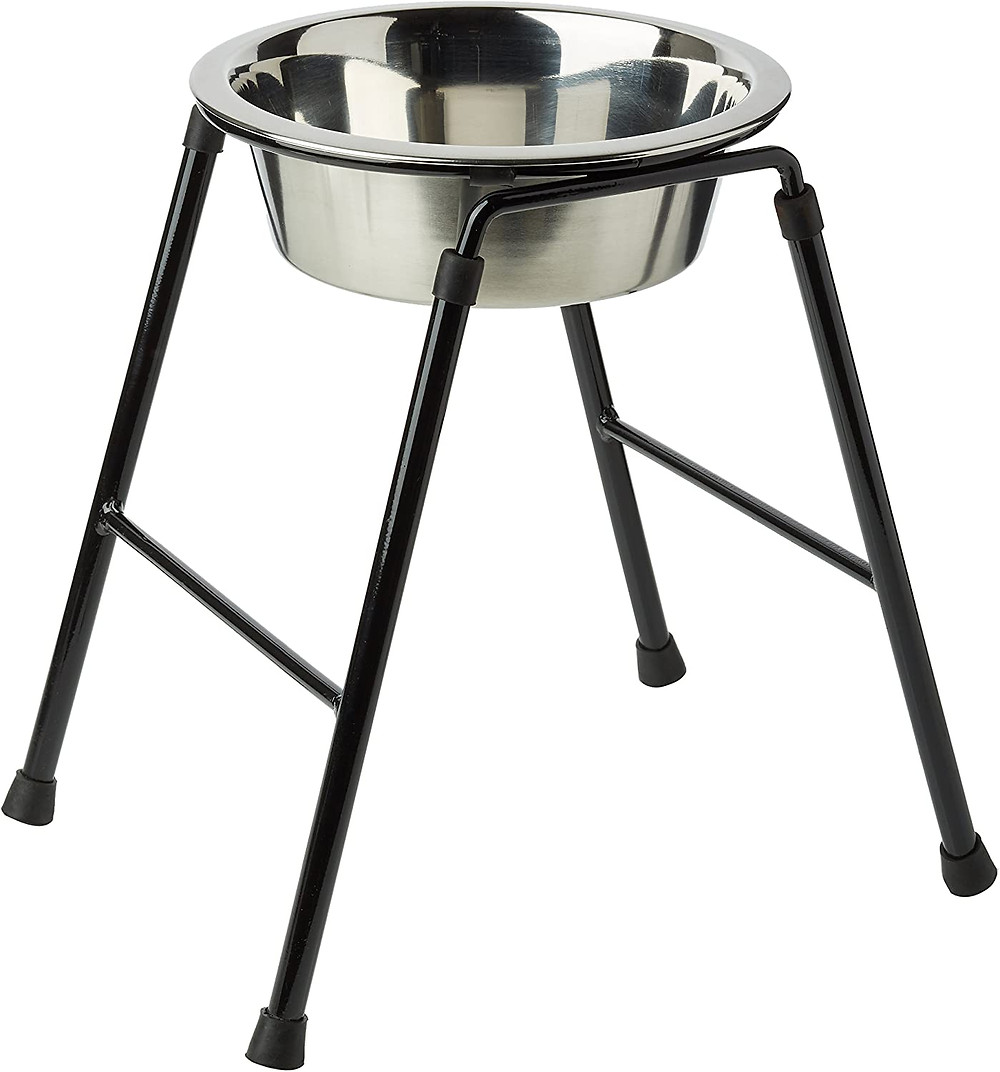 Dog Single feeder metal bowl stand