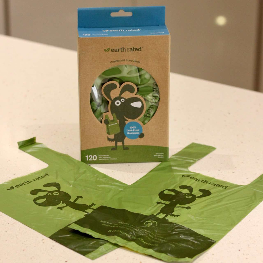 Earth rated poop bags and packaging