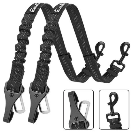 dog car seat belt tether with ISOFIX points