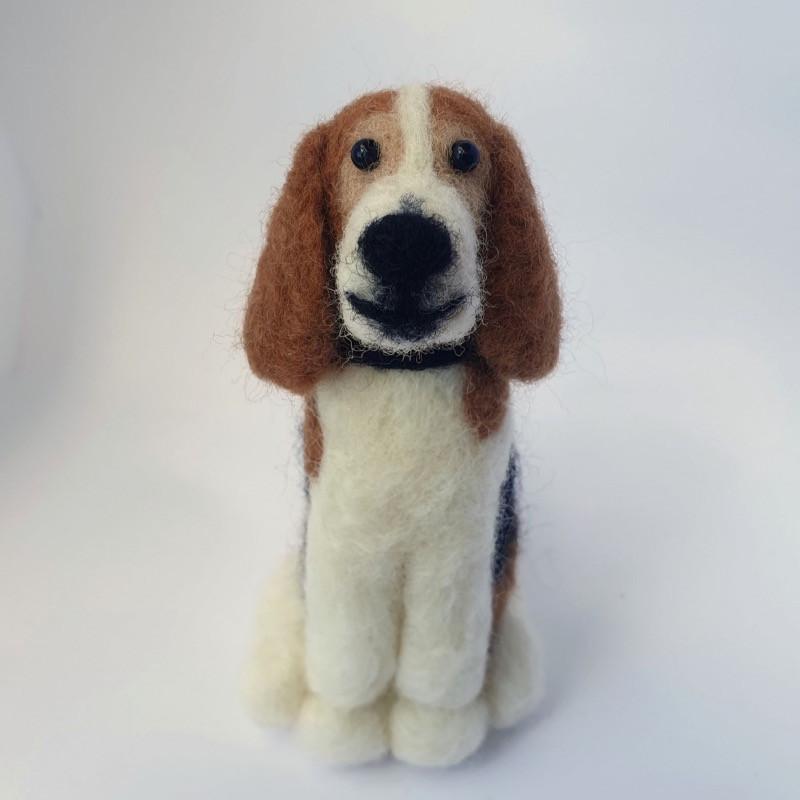 Personalised felt dog gift