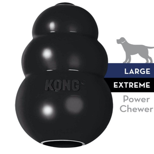 Extreme kong dog toy in black
