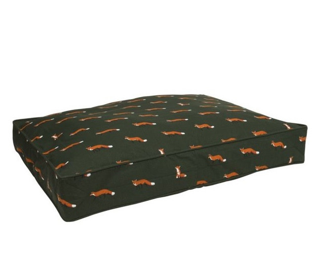 A Sophie Allport green, fox dog bed