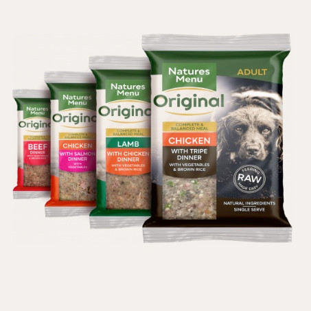 Natures menu complete raw dog food