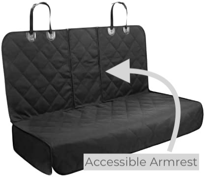 AMZPET Dog seat cover detailing the 60/40 split seat capabilities