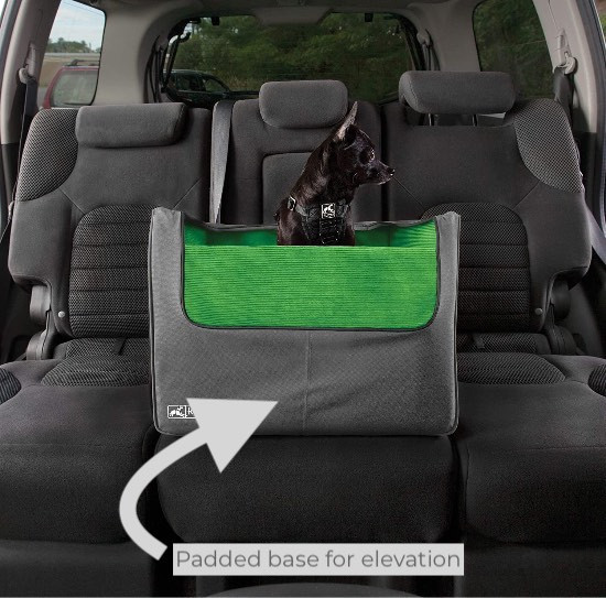 Puppy in a Kurgo Skybox Rear Seat Booster